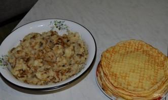Вегетарианские блинчики с картофельной начинкой - фото шаг 8