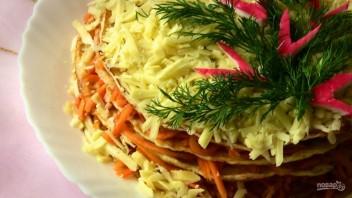 Закусочный торт с морковью без майонеза - фото шаг 6