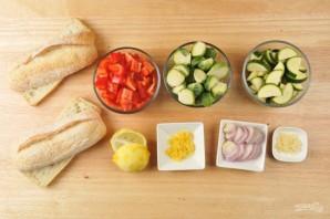 Багет с запечёнными овощами - фото шаг 1