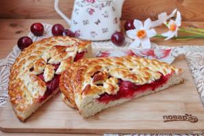 Дрожжевой пирог со сливами - фото шаг 18