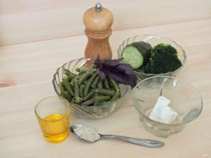 Салат из зеленой фасоли с сыром - фото шаг 1