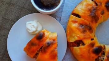Вкусный пирог с капустой и мясом - фото шаг 5