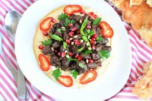 Ливанский хумус с пряными куриными сердечками - фото шаг 6