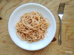 Спагетти с базиликом и сухарями - фото шаг 4