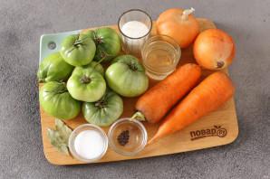 Салат из зеленых помидоров без стерилизации на зиму - фото шаг 1