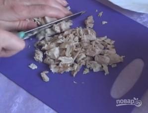 Пекинская капуста с курицей и грибами - фото шаг 3
