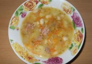 Фасолевый суп на говяжьем бульоне - фото шаг 8