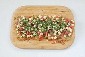 Куриный рулет с сыром и томатами - фото шаг 9