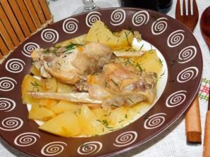 Кролик с картошкой в мультиварке - фото шаг 4