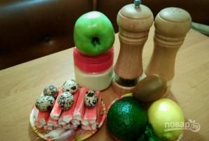 Салат из крабовых палочек с киви - фото шаг 1