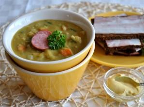 Гороховый суп с колбасками - фото шаг 4
