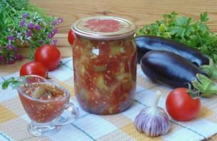 Закуска из баклажанов с помидорами на зиму - фото шаг 10