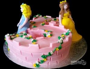 Торт для девочки на 5 лет - фото шаг 7
