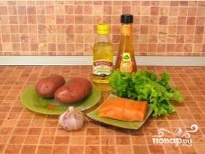 Салат с семгой и картофелем - фото шаг 1