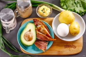Салат с копченой курицей и авокадо - фото шаг 1