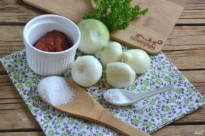 Лук в томатном соке на зиму - фото шаг 1