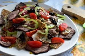 Салат с зеленым омлетом и говядиной гриль - фото шаг 7