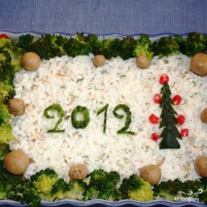 Сытный новогодний салат - фото шаг 27