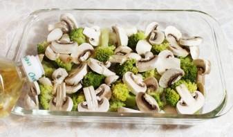 Запеканка с грибами и брокколи - фото шаг 3