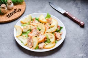 Салат с копченой курицей и грушей - фото шаг 6