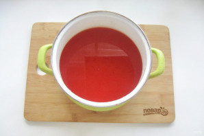 Сок из помидоров через мясорубку - фото шаг 8