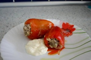 Фаршированный перец со сметаной - фото шаг 7
