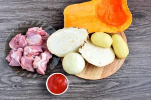 Рагу из курицы и тыквы - фото шаг 1