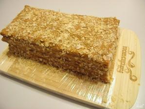 Торт из слоеного теста со сгущенкой - фото шаг 8
