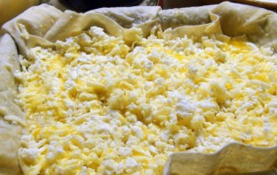 Ачма с сыром и творогом - фото шаг 3