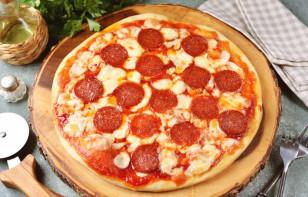 "Пицца ""Пепперони"" с моцареллой - фото шаг 10"