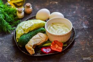 Японский салат с курицей - фото шаг 1
