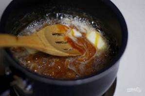 Торт с миндалём и солёной карамелью - фото шаг 5