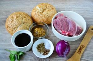 Сэндвичи с глазированной свининой - фото шаг 1