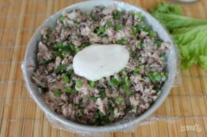 Салат с консервированной рыбой и картошкой - фото шаг 8