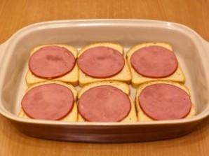 Горячие бутерброды с окороком, помидорами и яйцами - фото шаг 4