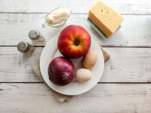 Слоеный салат с яблоками и сыром - фото шаг 1