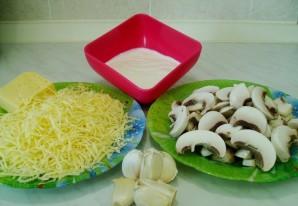 Отбивная с грибами и сыром - фото шаг 4