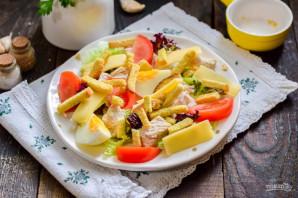 Салат с курицей и гренками - фото шаг 6