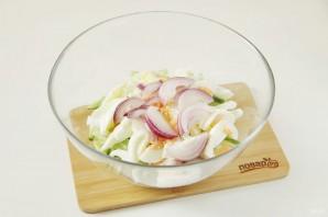 ПП салат с кальмаром - фото шаг 6