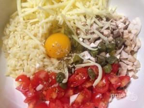 Перец, запеченный с пастой, грибами и сыром - фото шаг 7