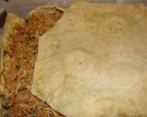 Пирог из лаваша с грибами - фото шаг 2