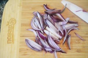 Салат из авокадо и красного лука - фото шаг 4