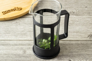 Кофе с базиликом - фото шаг 3