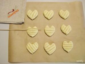 Печенье в форме сердечек - фото шаг 8