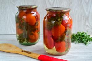 Помидоры с морковной ботвой на зиму - фото шаг 8