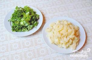 Салат с колбасой - фото шаг 3