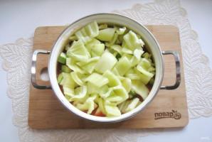 Лечо из кабачков и перцев с томатной пастой - фото шаг 8
