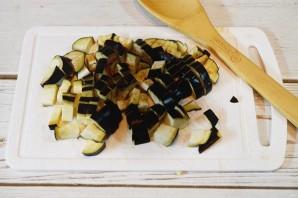 Салат из кабачков и баклажанов на зиму - фото шаг 3