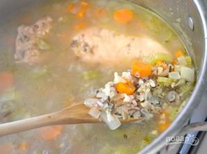 Сливочный суп с курицей и рисом - фото шаг 5