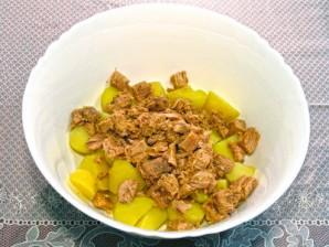 Картофельный салат с тунцом - фото шаг 5